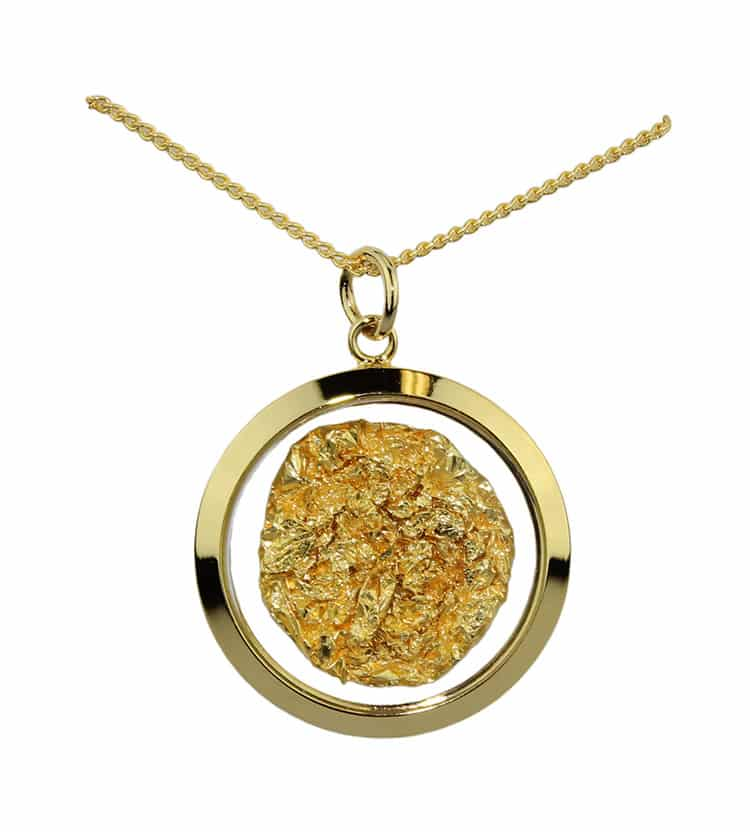 Gold Amp Glass Large Round Necklace Australia The Gift