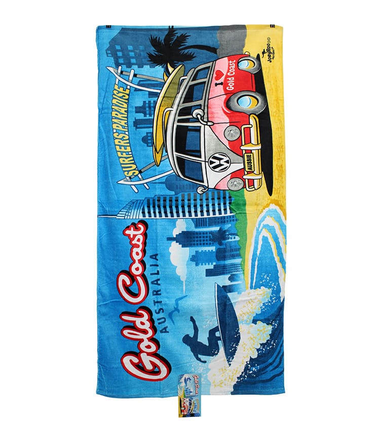 Beach Blanket Australia: Gold Coast Kombi Towel - Australia The Gift