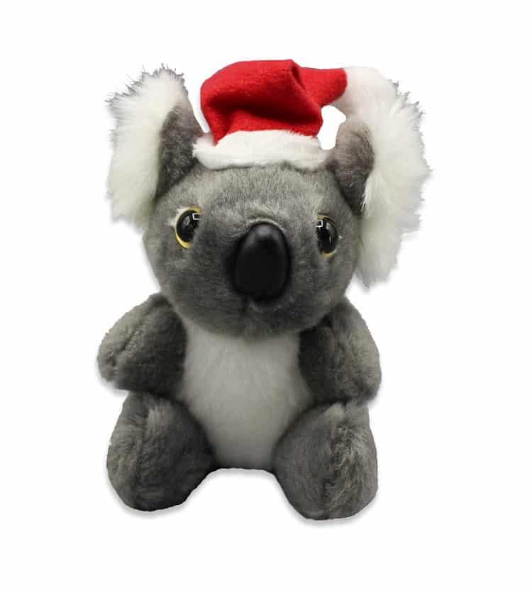 Koala In Christmas Hat