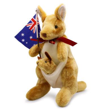Kangaroo with Ribbon Plush Toy