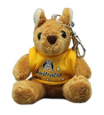 Yellow Kangaroo Souvenir Keyring