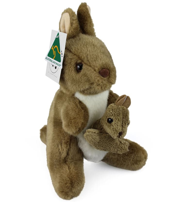Kangaroo With Joey 25cm