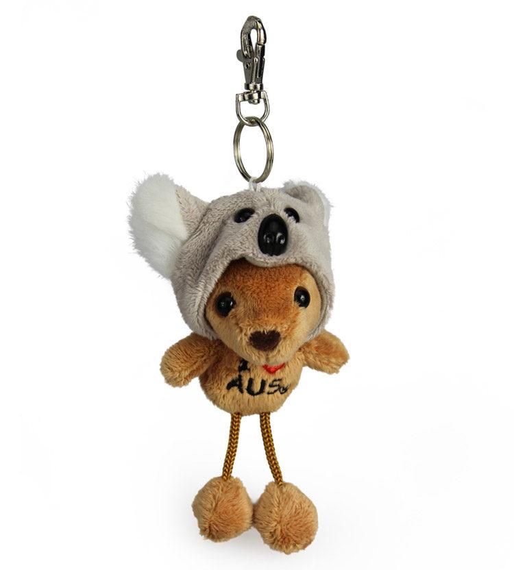 Kangaroo In Koala Hat Keyring