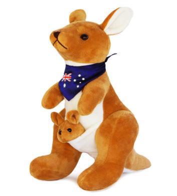 Kangaroo with Scarf 34cm