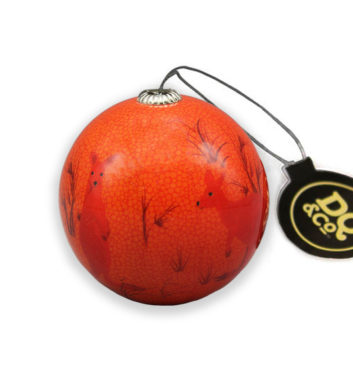 Orange Kangaroo Christmas Bauble
