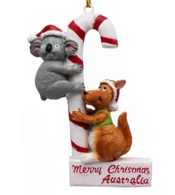 Kangaroo & Koala Christmas Ornament