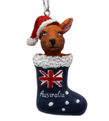 Kangaroo Stocking Christmas Decoration
