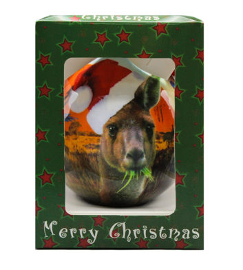 Kangaroo Christmas Bauble