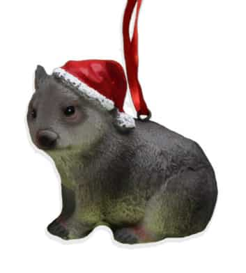 Wombat Christmas Ornament
