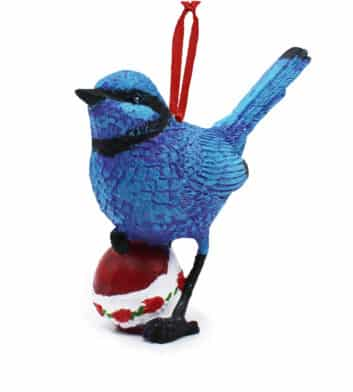 Blue Wren Christmas Decoration