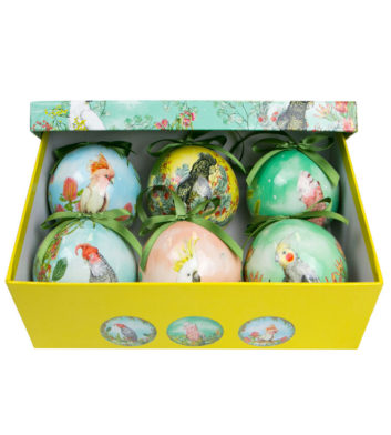 Cockatoo Christmas Bauble Set Of 6