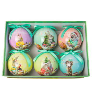 Festive Feast Christmas Bauble Set Of 6