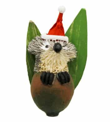Bristlebrush Gum Nut Christmas Ornament