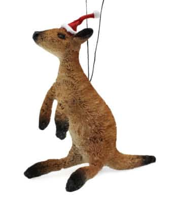 Bristlebrush Kangaroo Christmas Ornament