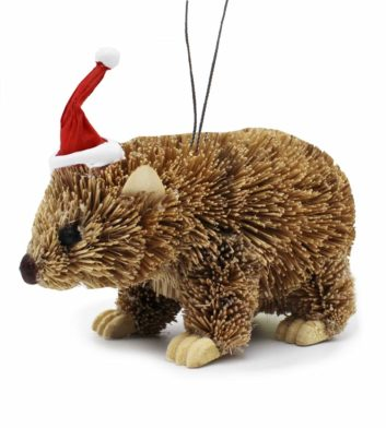 Bristlebrush Wombat Christmas Ornament