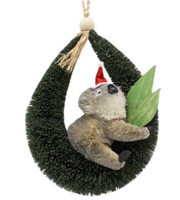 Bristlebrush Christmas Koala Hanger