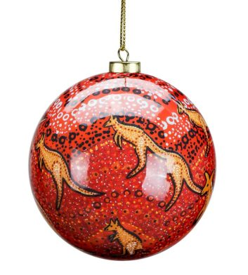 Kangaroo Sunset Christmas Bauble