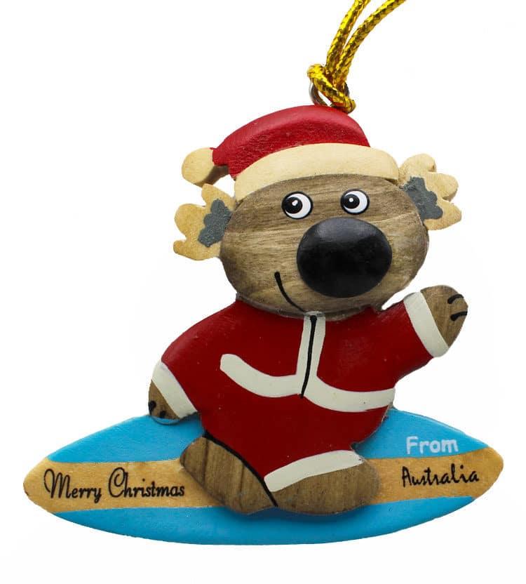Surfing Koala Christmas Ornament