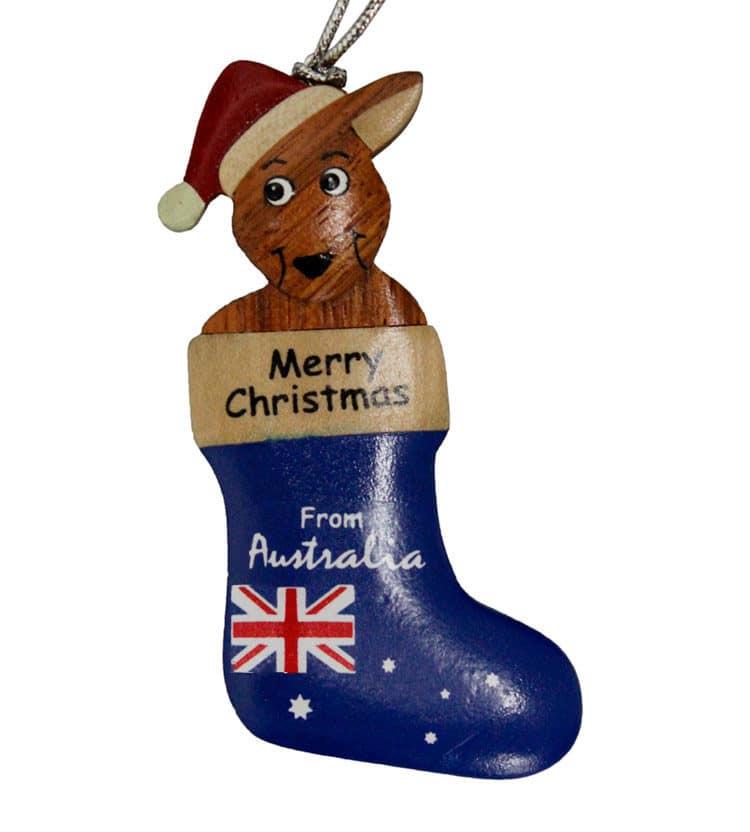 Kangaroo Stocking Christmas Ornament