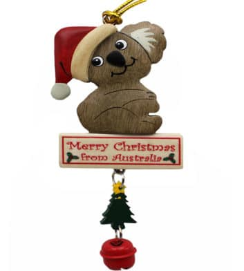 Koala Bell Christmas Ornament