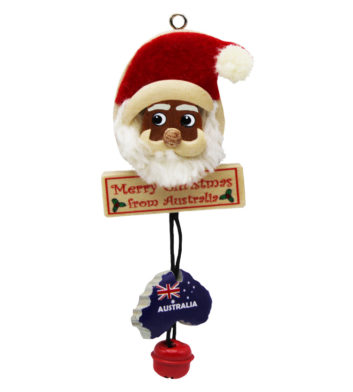 Christmas Santa Bell Ornament