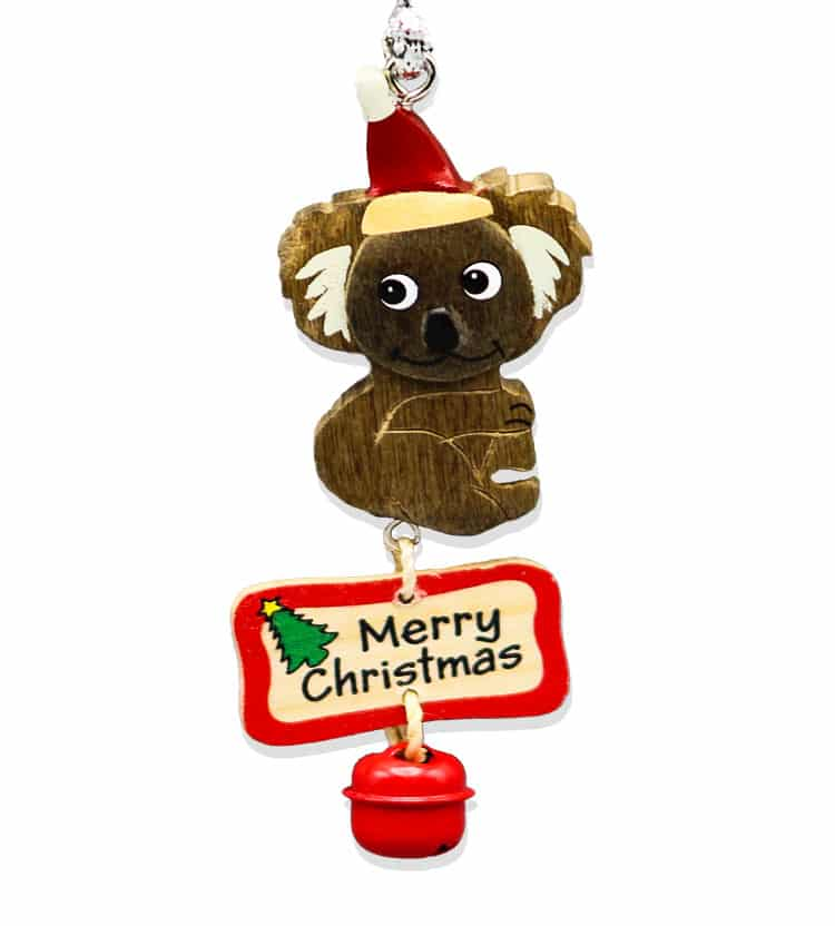 Koala bell christmas decoration australia the gift for Australian christmas decoration