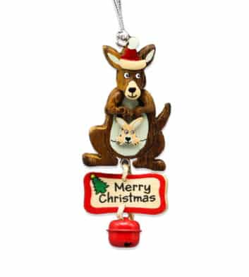 Kangaroo Bell Christmas Decoration