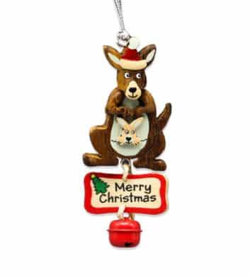 Kangaroo Bell Christmas Decoration