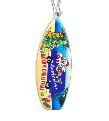 Christmas Surfboard Decoration