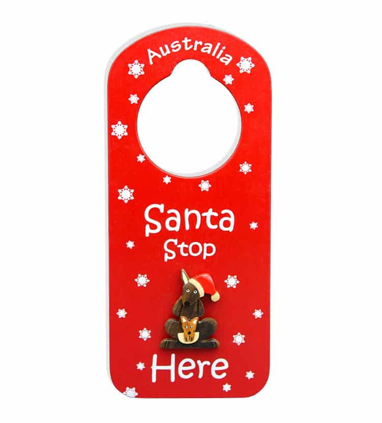 Christmas Kangaroo Door Hanger