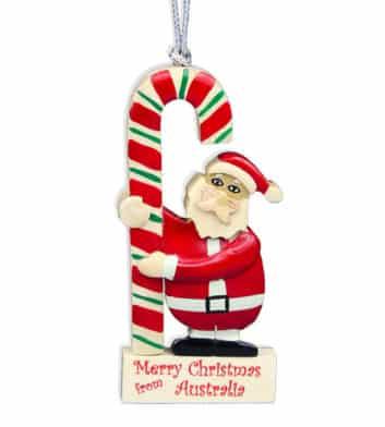 Christmas Santa Candy Cane Decoration