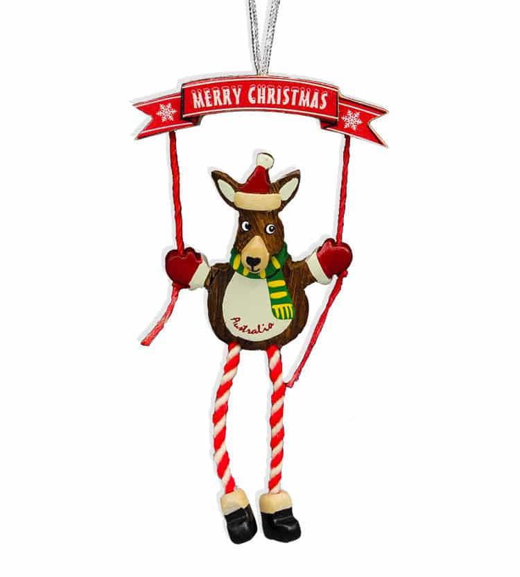 Christmas Kangaroo Scarf Decoration