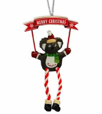 Christmas Koala Scarf Decoration