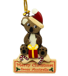 Koala & Present Christmas Decoration
