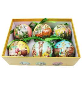 Festive Holidays Christmas Mini Bauble Set Of 6