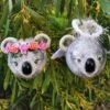 3D Koala Holly Christmas bauble