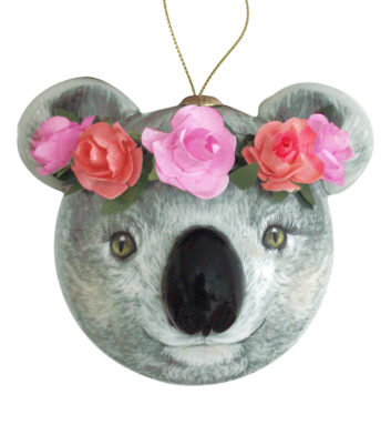 3D Koala Holly Christmas bauble