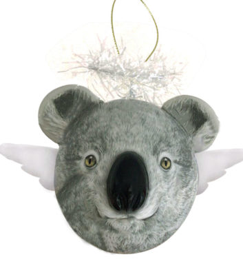3D Koala Angel Christmas bauble