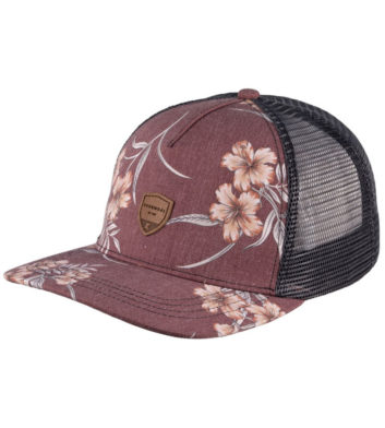 Burgundy Coastal Trucker Cap