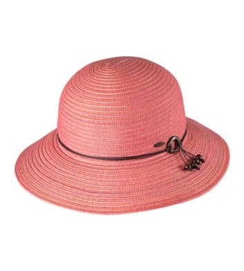 Ladies Short Brim Hat Pink