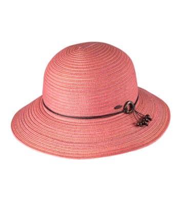 Ladies Short Brim Hat Pink