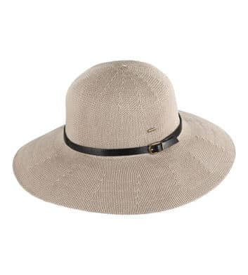 Ladies Wide Brim Hat Taupe