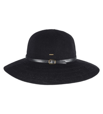 Ladies Wide Brim Hat Black