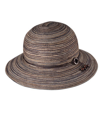 Ladies Short Brim Hat Chocolate