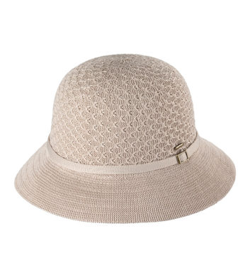 Ladies Short Brim Hat Taupe