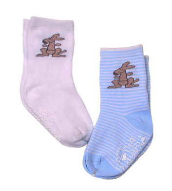 Baby Boy Kangaroo Socks 2 Pack