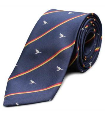 Striped Kangaroo Neck Tie
