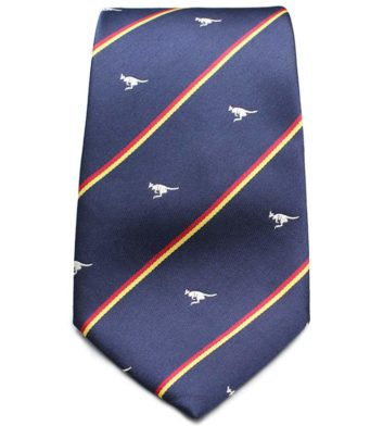 Striped Kangaroo Neck Tie