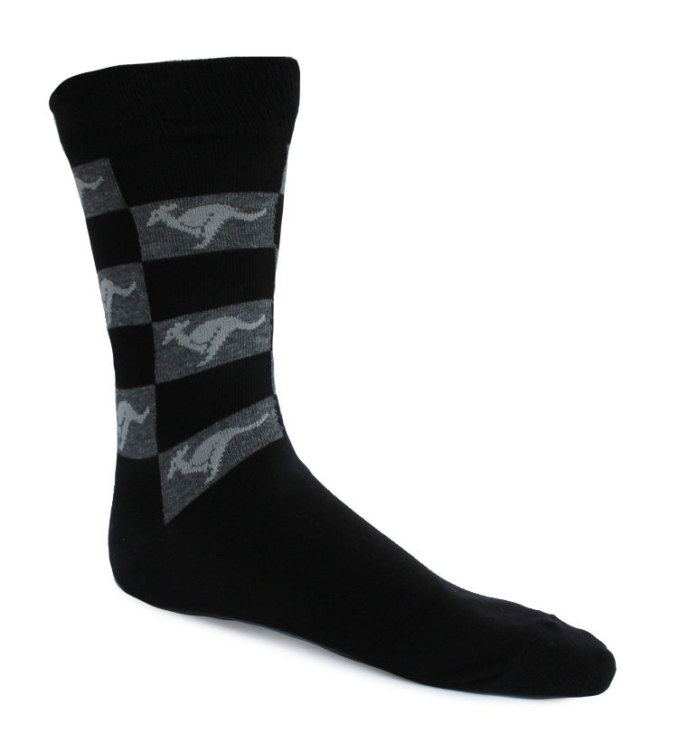 Mens Grey Kangaroo Socks