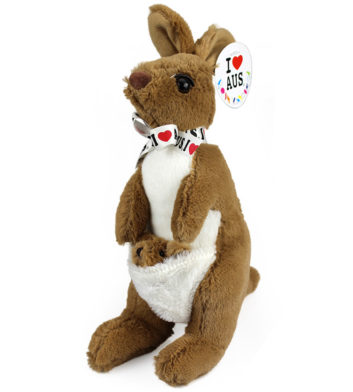 Kangaroo With Ribbon